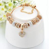 ATTRACTTO Luxury Crystal Heart Charm Bracelets&Bangles Gold Bracelets For Women
