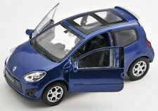 Spedizione LAMPO RENAULT TWINGO GT BLU/BLUE 1:34 Welly Modello Auto Nuovo & OVP