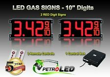 """10"""" LED GAS STATION Electronic Fuel PRICE SIGN DIGITAL CHANGER Complete Package"""