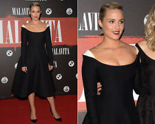 VALENTINO Scoop-Neck Contrast-Shoulder Dress Black/White 6  UK 10 NWT $3K SALE!!