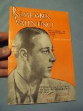 Antique REMEMBER VALENTINO 1938 Paper Cover BOOK VG-NM