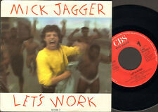 "MICK JAGGER LET'S WORK Catch as Catch Can NMINT SINGLE 7"" Rolling Stones"