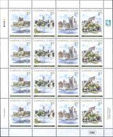 Marshall Inseln 2014 Burgen in Großbritannien Castles Kleinbogen Postfrisch MNH