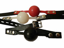 3 Locking silicone ball gags Red, Black & White,FREE UK DELIVERY