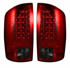 07-09 DODGE RAM 1500 2500 3500 RECON LED TAIL LIGHTS DARK RED SMOKED 264179RBK
