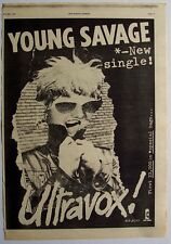 ULTRAVOX 1977 original POSTER ADVERT YOUNG SAVAGE