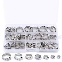 70Pcs/Set Oreille Simple À Sertir Collier De Serrage Oreille Simple Collier S2F8