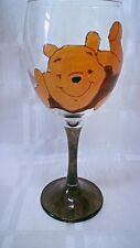 Hand Painted Winnie The Pooh Relaxing Large Washable Wine Glass Uk
