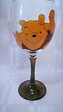 HAND Painted WINNIE THE POOH rilassante Grande Lavabile Vino in Vetro UK