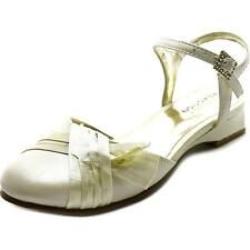 Kenneth Cole Ivory Dress  Shoes with Satin Ribbons Little Girls Size 11 1/2