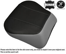 GREY & BLACK CUSTOM FITS HARLEY BRAKEOUT 13-16 SUNDOWNER REAR SEAT COVER