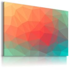 WATERCOLOUR TRIANGLES CANVAS WALL ART PICTURE LARGE SIZES AB651  MATAGA .