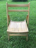 Vintage Folding Chair Wood Slat Mid Mod Century Wedding Bistro