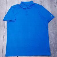 Nike Golf Standard Fit Polo Mens XL Blue Performance Dri-Fit Short Sleeve P116