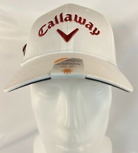 NEW Callaway Golf Hat Baseball Cap WHITE Weather Series Professional Staff Hat