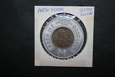 New listing Vtg Encased Good Luck 1945 Lincoln Penny Token Rubinstein & Rosenblum Furriers