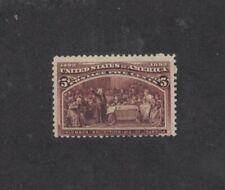 Scott 234 - Columbian 5 Cent. Single.  MHNG.  #02 234a