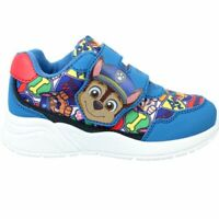 BOYS NEW OFFICIAL PAW PATROL TRAINERS TOUCH FASTENING PUMPS SHOES SIZE 5 - 10
