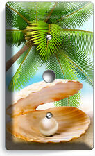 SEE SHELL PEARL PALM BEACH LIGHT DIMMER VIDEO CABLE WALL PLATE COVER HOME DECOR