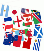 33ft Long 20 Extra Large World Cup Teams Fabric Flags Bunting