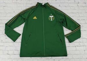 Adidas MLS Portland Timbers Anthem Jacket Full Zip Green FI1530 MENS SIZE XL