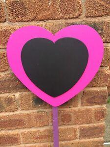 Children's Outdoor Chalkboards Garden Handmade Heart Design, Nursery, School,