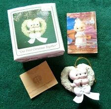 """Precious Moments Ornament """" Our First Christmas Together """" 1995 Nib"""