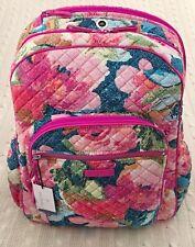 Vera Bradley Iconic Campus Backpack Superbloom Pink Floral Print