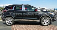 2013-2018 Ford Escape 8Pc w/Cutout Chrome Pillar Post Trim Stainless Steel