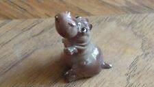 Vintage Hagen Renaker Monrovia mama hippo hippopotamus eye white animal figurine