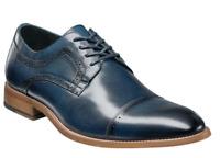 Men's Shoes Stacy Adams Dickinson Cap Toe Oxford Indigo Leather 25066-401