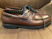 Timberland Men's Size 8.5 Echo Brown Leather Boat Shoes 71026