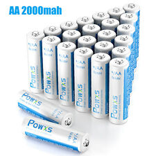 Powxs AA 2000mah Rechargeable Batteries Ni-Mh 1.2V for Flashlight RC Toy Camera