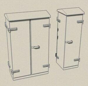 O gauge model railway relay cabinets wide type 1 double 1 single