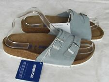 NEW Birkenstock Vaduz Ladies Powder Blue Suede SOFT FOOTBED Sandals Size 5 38