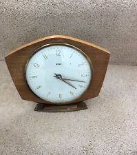 Vintage Metamec Mantle Clock, Wooden Surround With Brass Edged Glass-Not Working