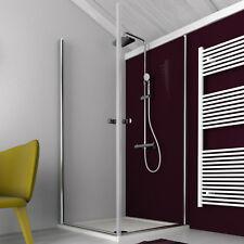 Box doccia con doppia porta battente apertura 180° cristallo trasparente 70x70cm
