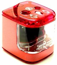 Jakar Pink Double Hole Pencil Sharpener Desktop Electric Battery Main Operated