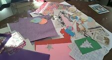 Assorted paper for crafts.  Make your own theme.  Over 50 die cuts & papers.