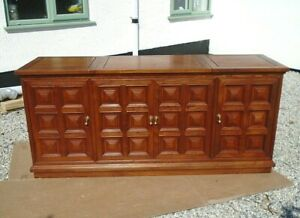 Large Chinese Rosewood Hi-Fi Music Cabinet Sideboard Entertainment Centre Unit