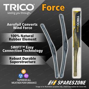 2 Trico Force Wiper Blades for Nissan 350Z Avenir Micra NX NX-R Pulsar Skyline