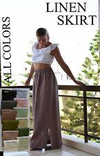 Long linen skirt / Flax linen skirt / Loose Linen skirt / Linen maxi skirt woman