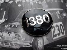 CLASSIC MINI COOPER MPI BLACK ENAMEL 1380 BADGE INSERT RARE NOS RACE KAD WORKS S