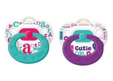 NUK  Baby Talk Girls Orthodontic 0-6 Months 2 Pack  Silicone Pacifier