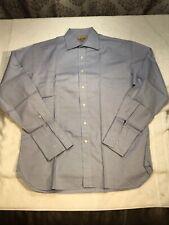 Paul Stuart Long Sleeve Dress Shirt French Cuff End On End 16-35