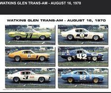 Watkins Glen Trans-Am 1970.Camaro,Dodge,Mustang First On eBay Car Poster! WOW!!!
