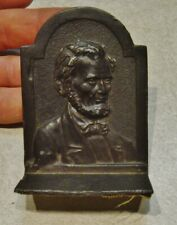"""Vintage metal  ABRAHAM LINCOLN  stand  3.5"""" x 2.5"""""""