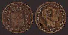 SPAGNA SPAIN 5 CENTIMOS 1878 OM - ALFONSO XII
