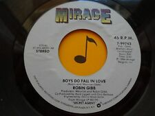 ROBIN GIBB ~Boys Do Fall In Love/Diamonds ~(BEE GEE) 45's record ~POP 1984 ~ VG+