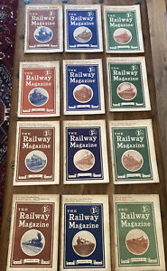The Railway Magazine 1921, full set of 12 copies for the year 1921